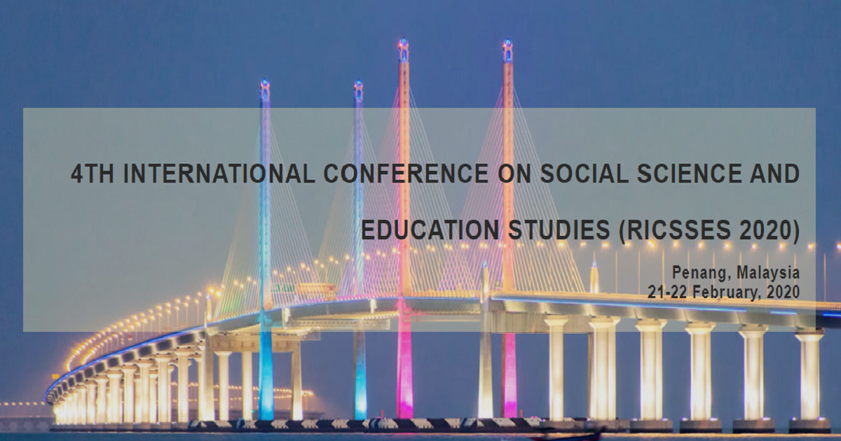 4th International Conference on Social Science and Education Studies (RICSSES 2020)