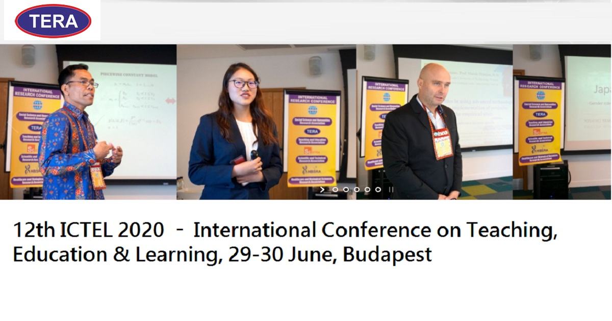 12th ICTEL 2020 – International Conference on Teaching, Education & Learning,