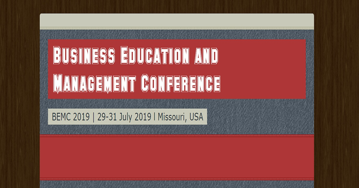 Business Education and Management Conference