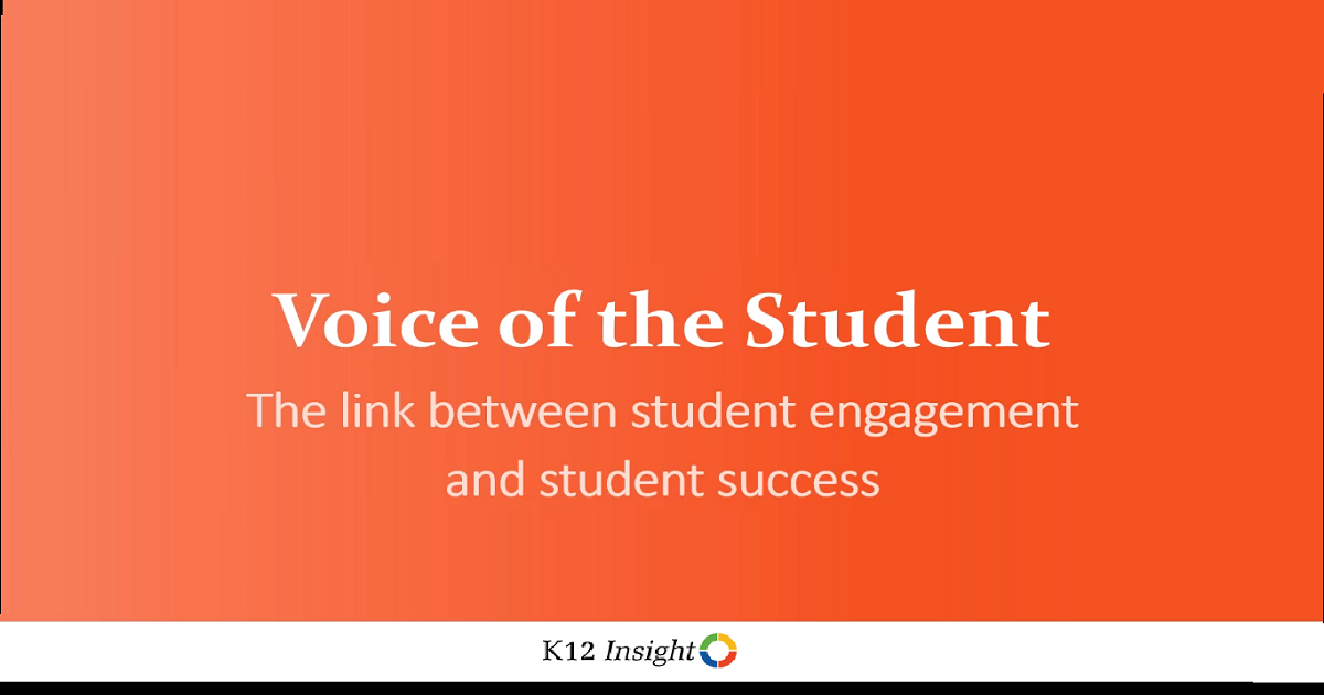 Voice of the student: The link between student engagement and student success