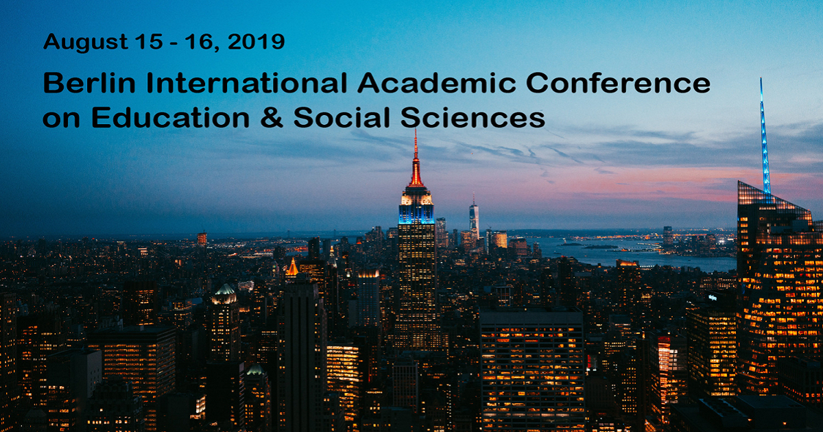 Berlin International Academic Conference on Education & Social Sciences 2019