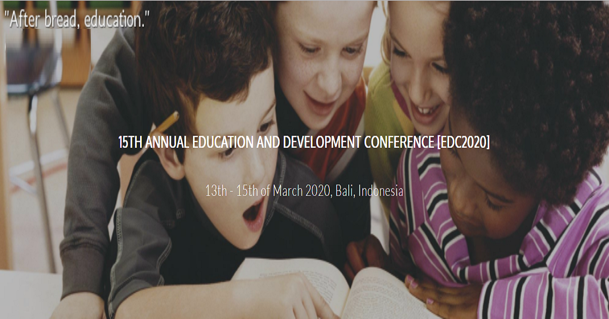 15th Annual Education and Development Conference (EDC 2020)