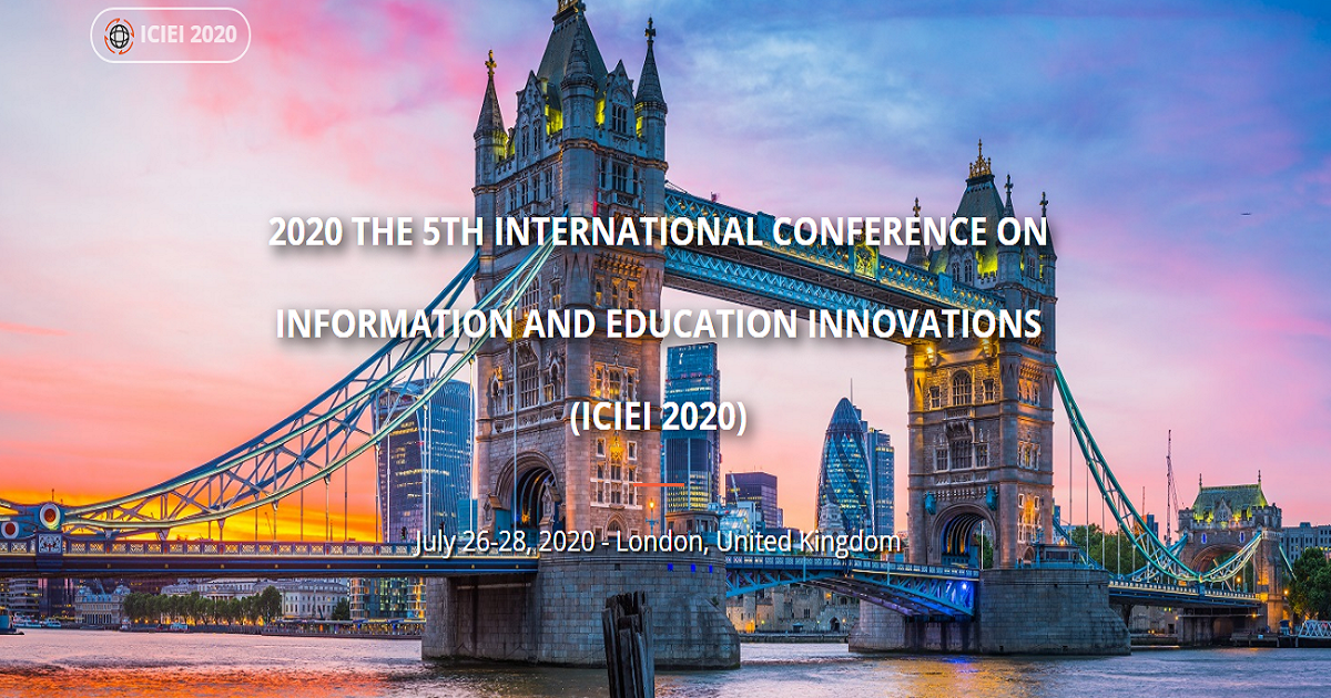 2020 The 5th International Conference on Information and Education Innovations