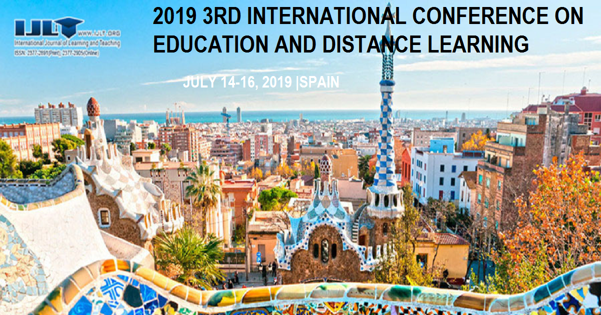 2019 3RD INTERNATIONAL CONFERENCE ON EDUCATION AND DISTANCE LEARNING
