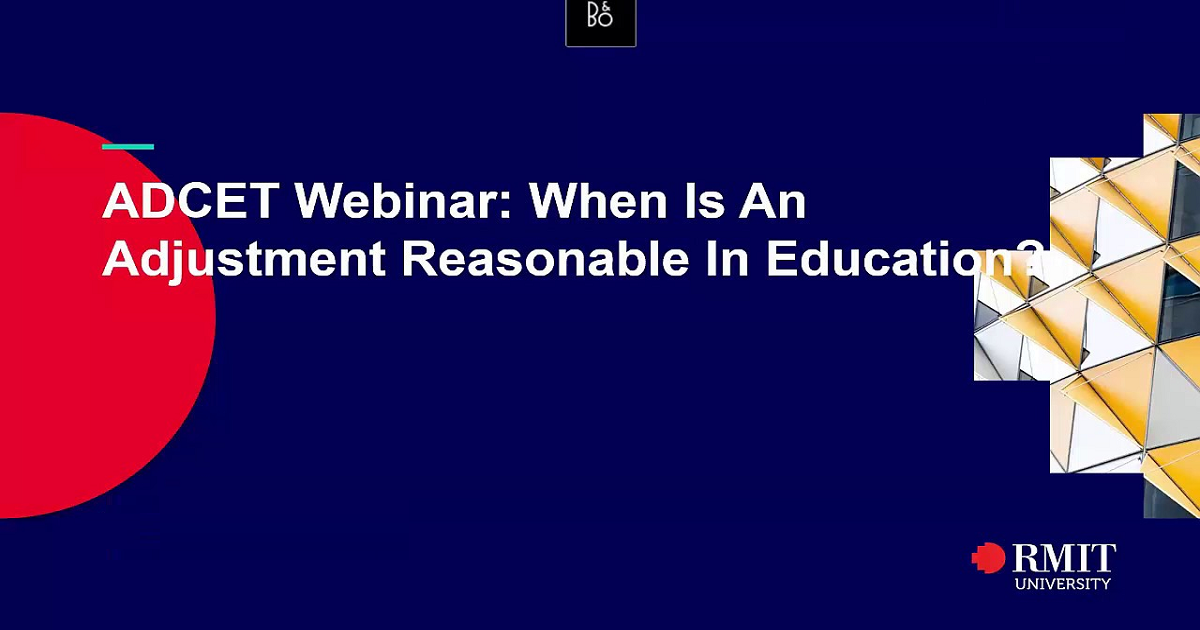 When Is An Adjustment Reasonable In Education?