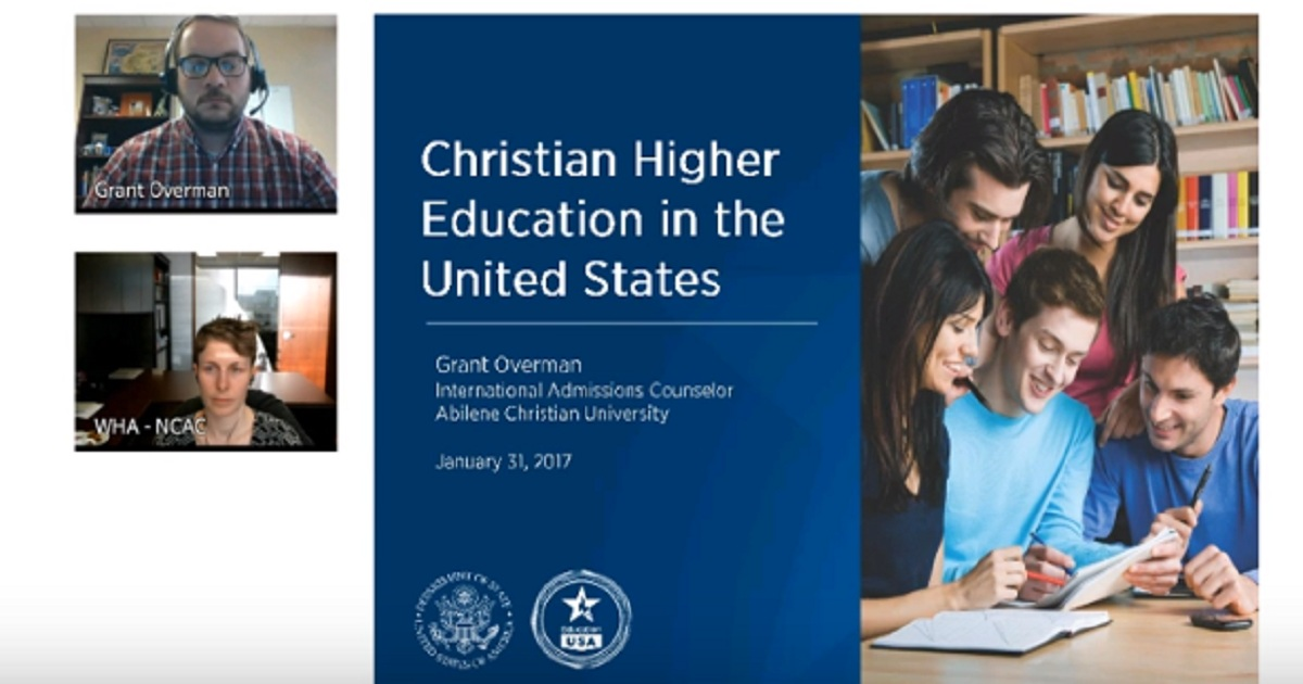 EducationUSA Webinar: Christian Education in the USA