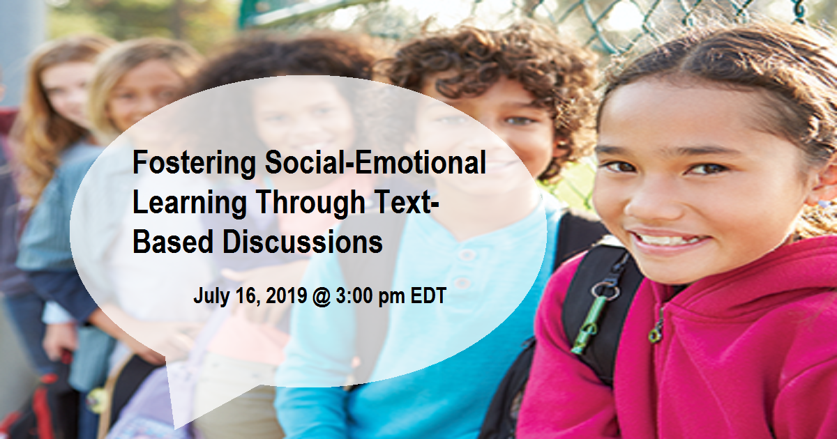 Fostering Social-Emotional Learning Through Text-Based Discussions
