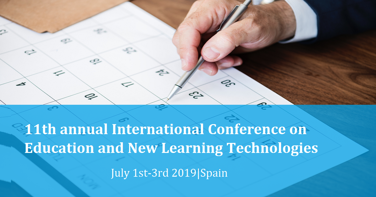 11th annual International Conference on Education and New Learning Technologies