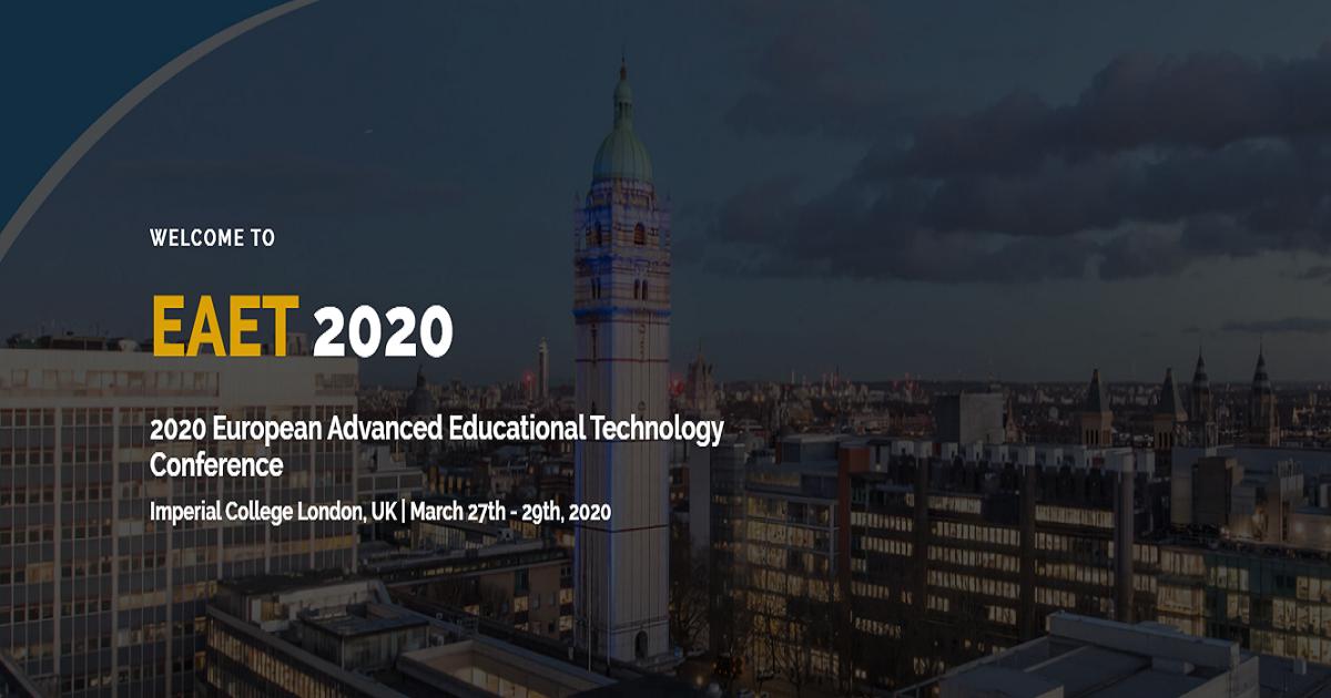 2020 European Advanced Educational Technology Conference (EAET 2020).
