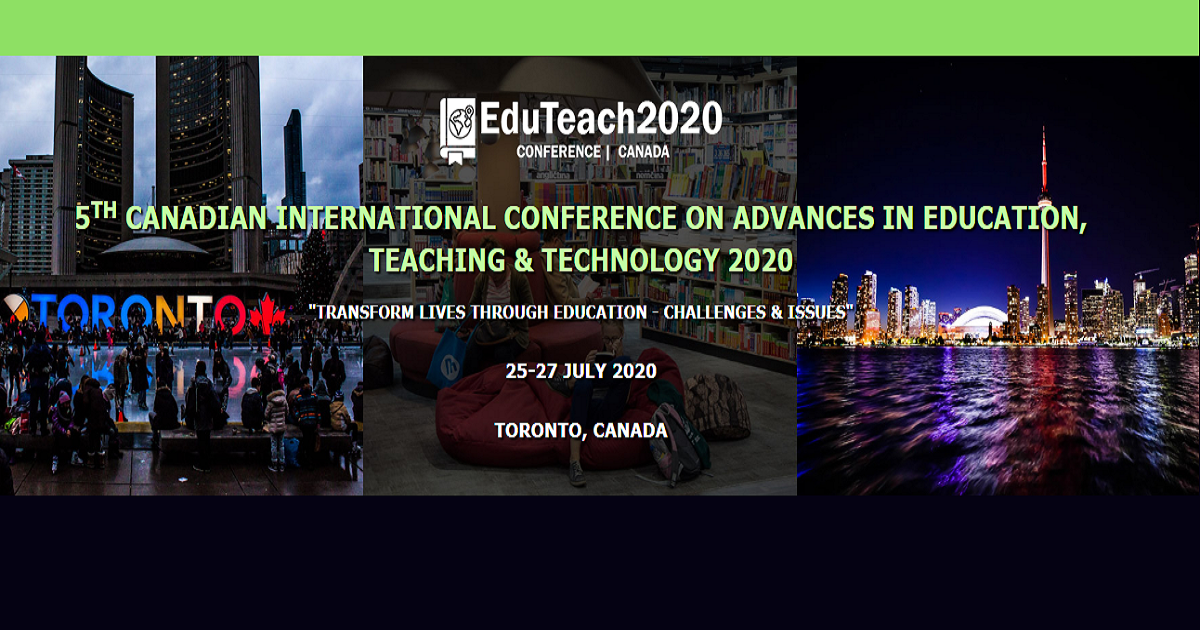 5th Canadian Conference on Advances in Education, Teaching and Technology 2020