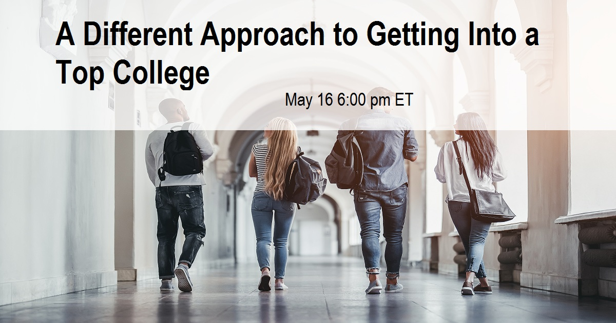 A Different Approach to Getting Into a Top College