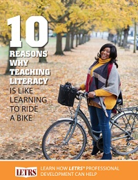 REASONS WHY TEACHING LITERACY IS LIKE LEARNING TO RIDE A BIKE